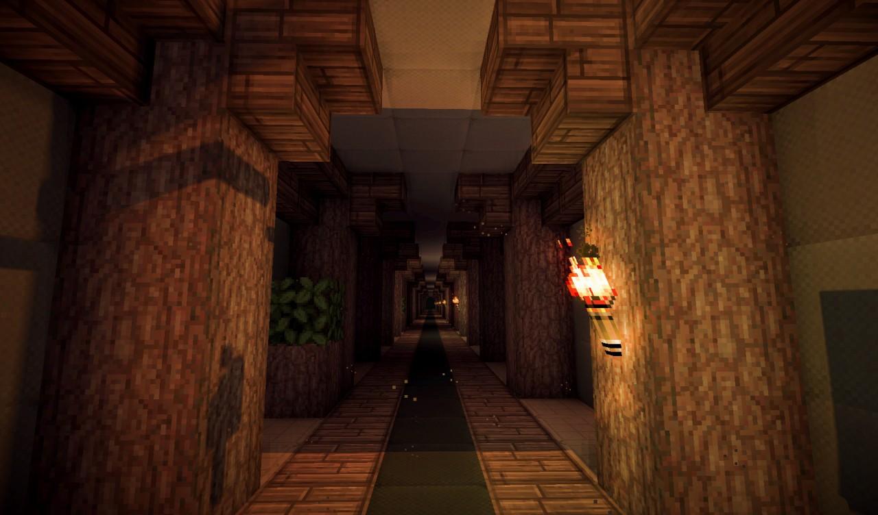 Image Gallery Minecraft Hallway