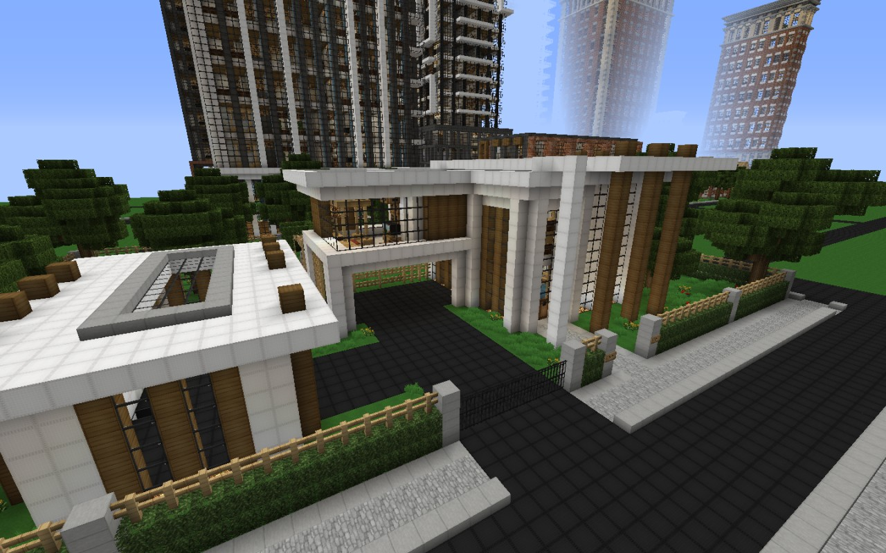 Modern house series 1 minecraft project for Project modern house