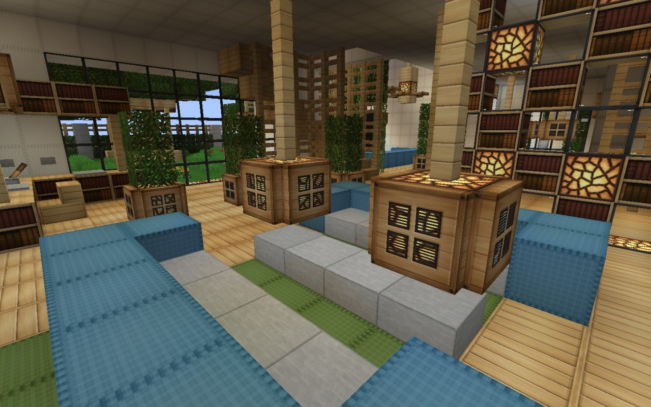 Modern Living Room Minecraft minecraft modern house decorations - house interior