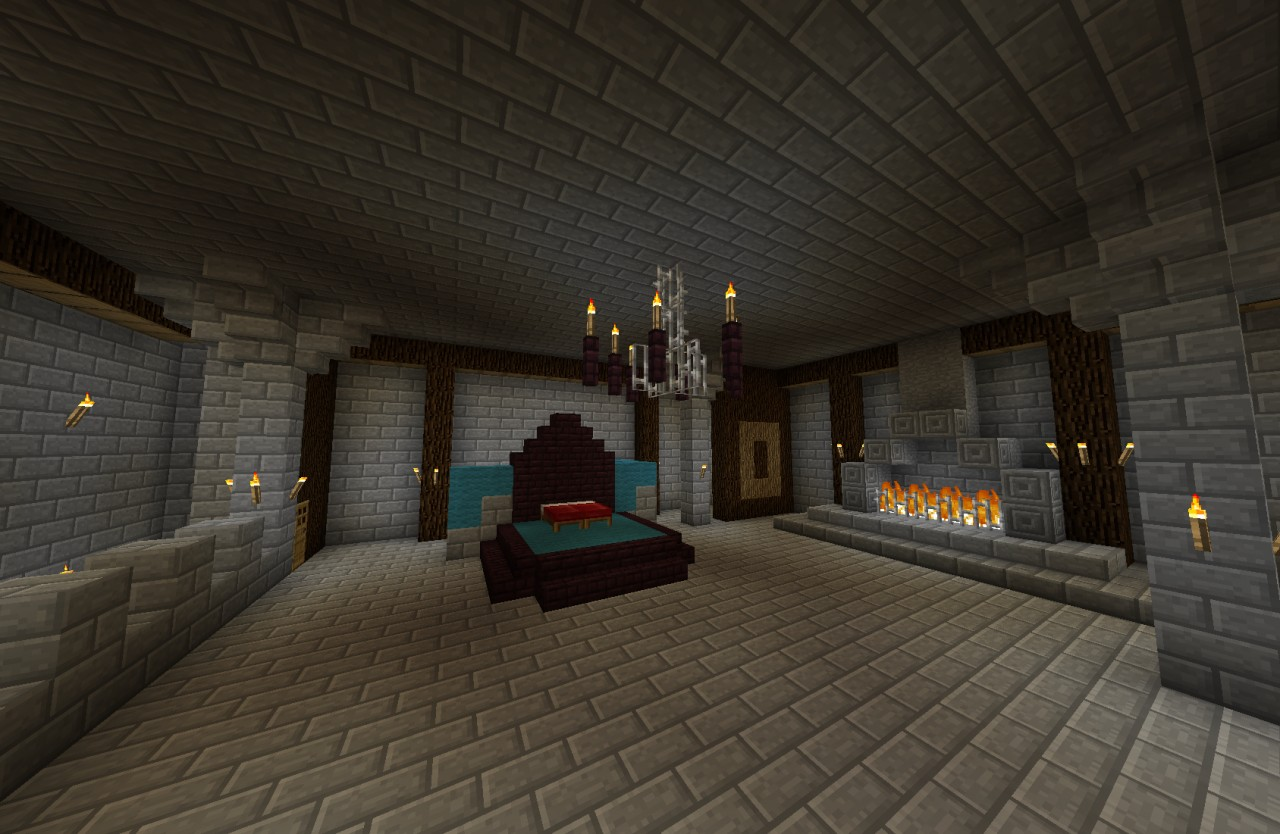 Stone castle update to 1 4 minecraft project for Castle bedroom ideas