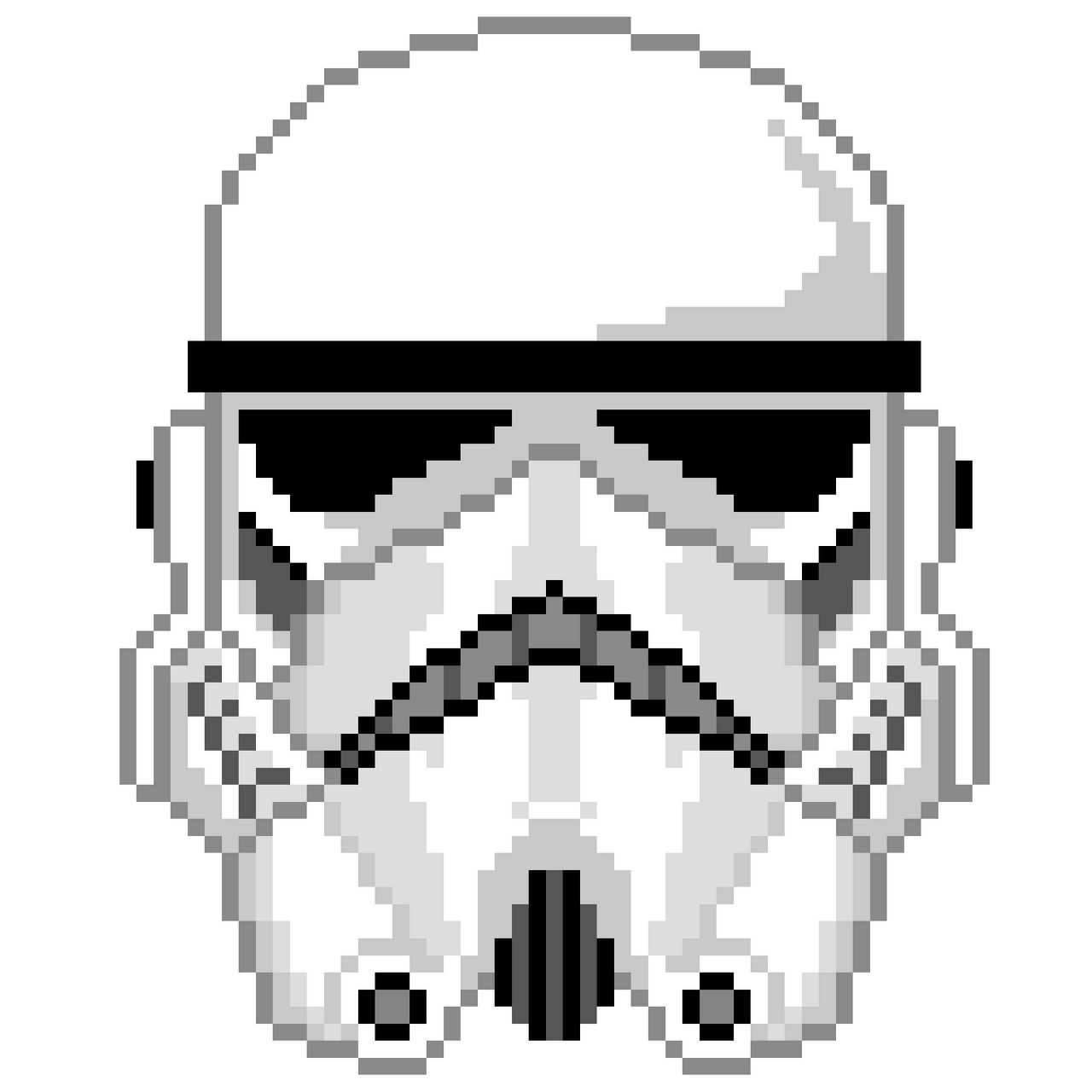 Storm Trooper Pixel Helmet Minecraft Project