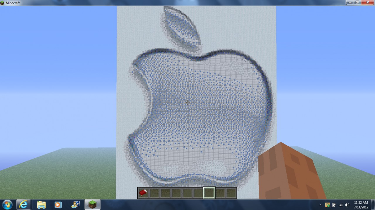 Apple Logo with Schematic Minecraft Project