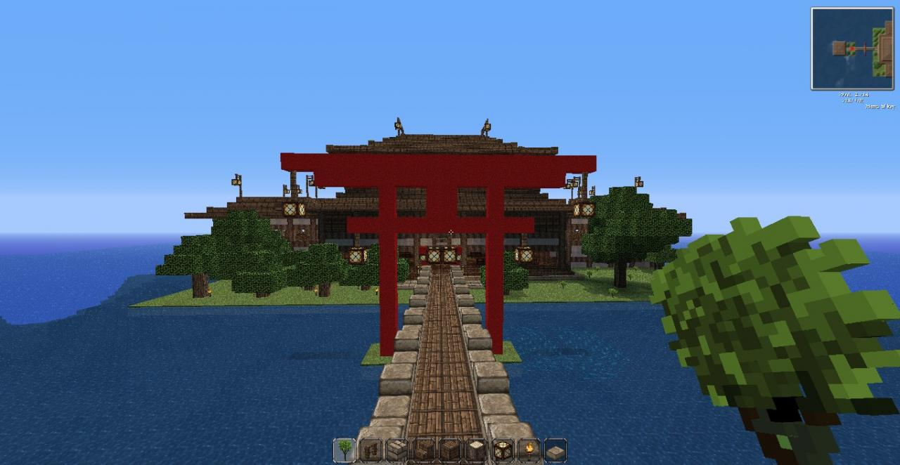 japanese gate house minecraft project