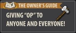 The owner guide: Giving OP Minecraft Blog Post