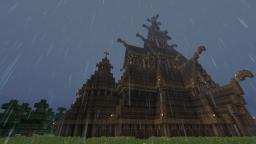 Nordic Temple - Borgund Stave Church Minecraft