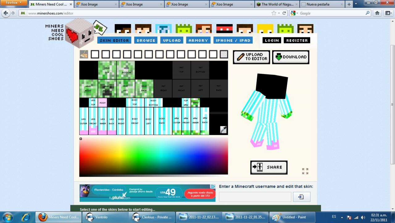 Make your own minecraft skin game sploder make your for 3d editor online