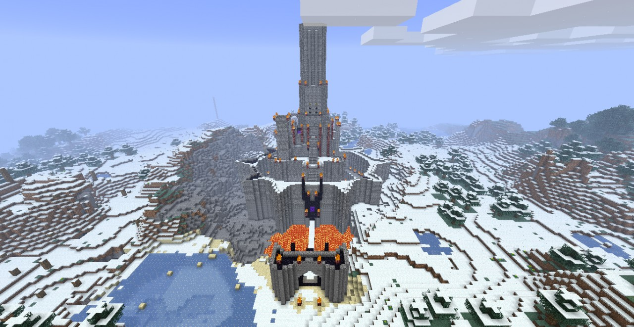 Eye of sauron minecraft schematic