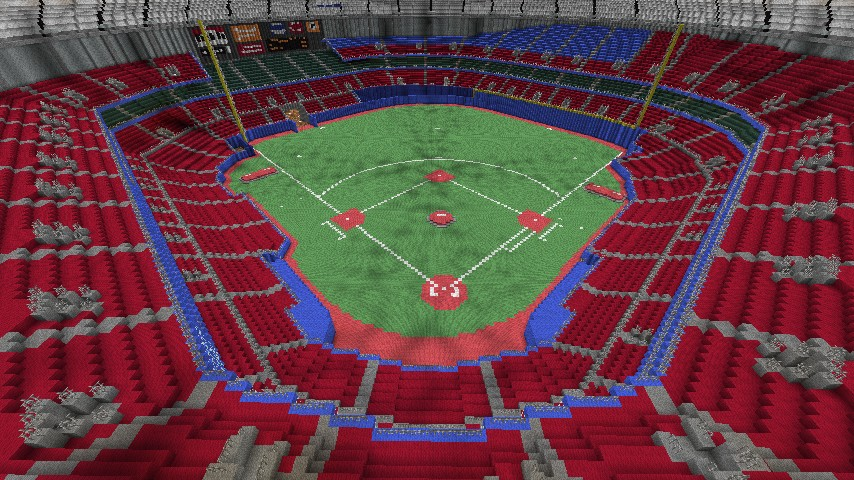 Baseball Stadium Kingdome Minecraft Project