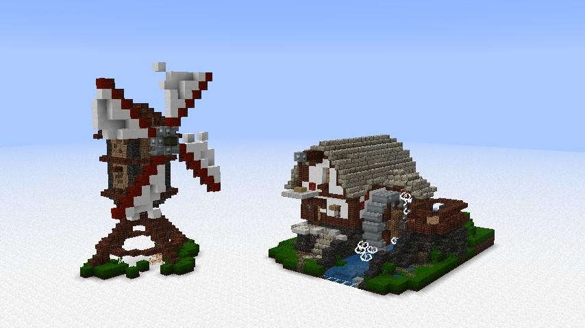 Windmill and Waterwheel