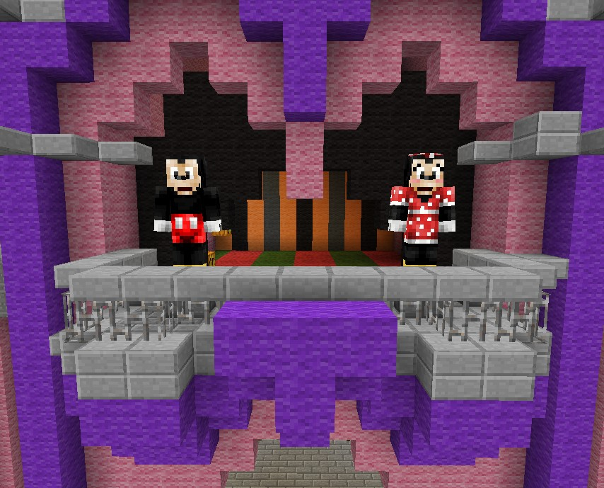 Mickey And Minnie in the Castle