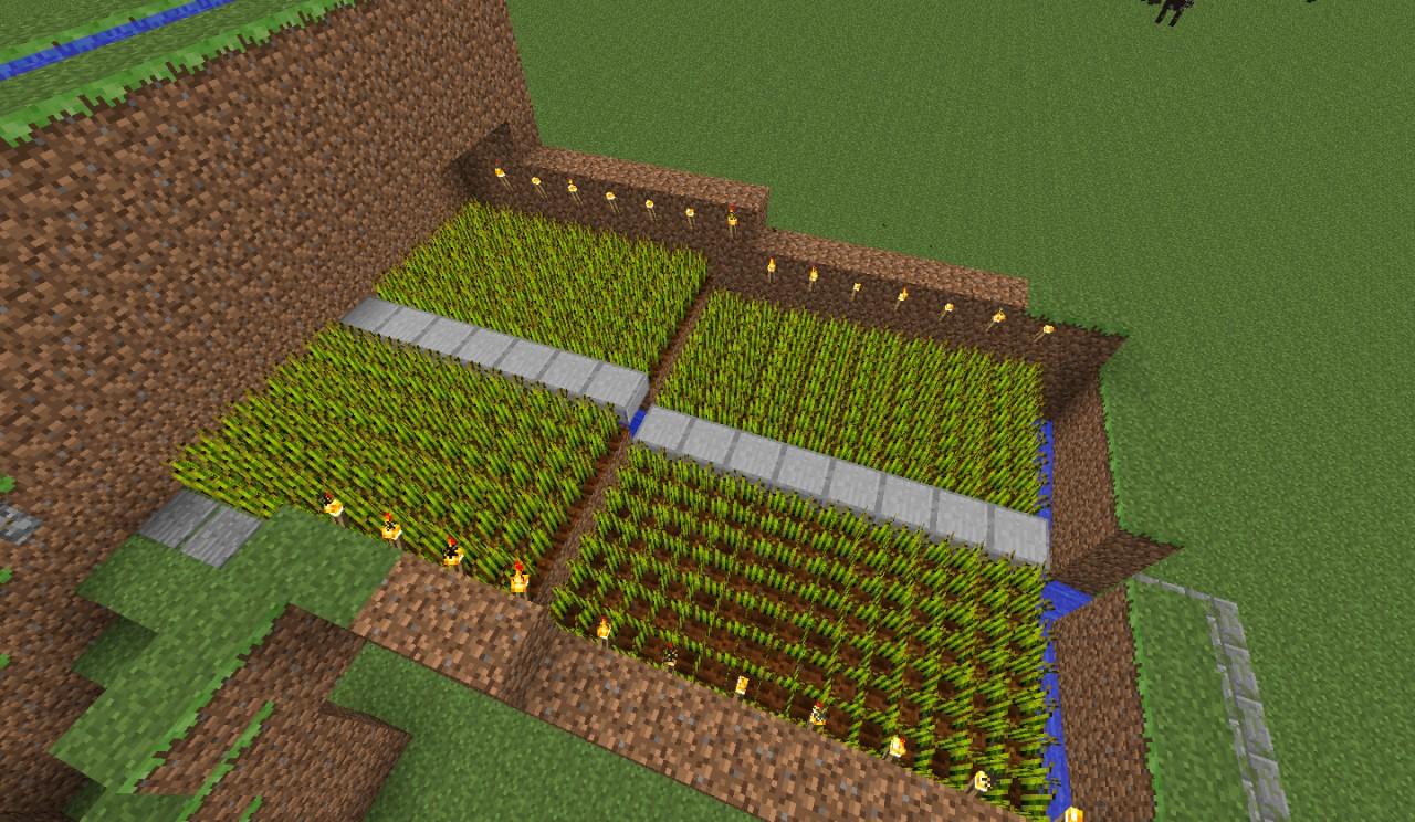 Advanced Automatic Wheat Farm Minecraft Map