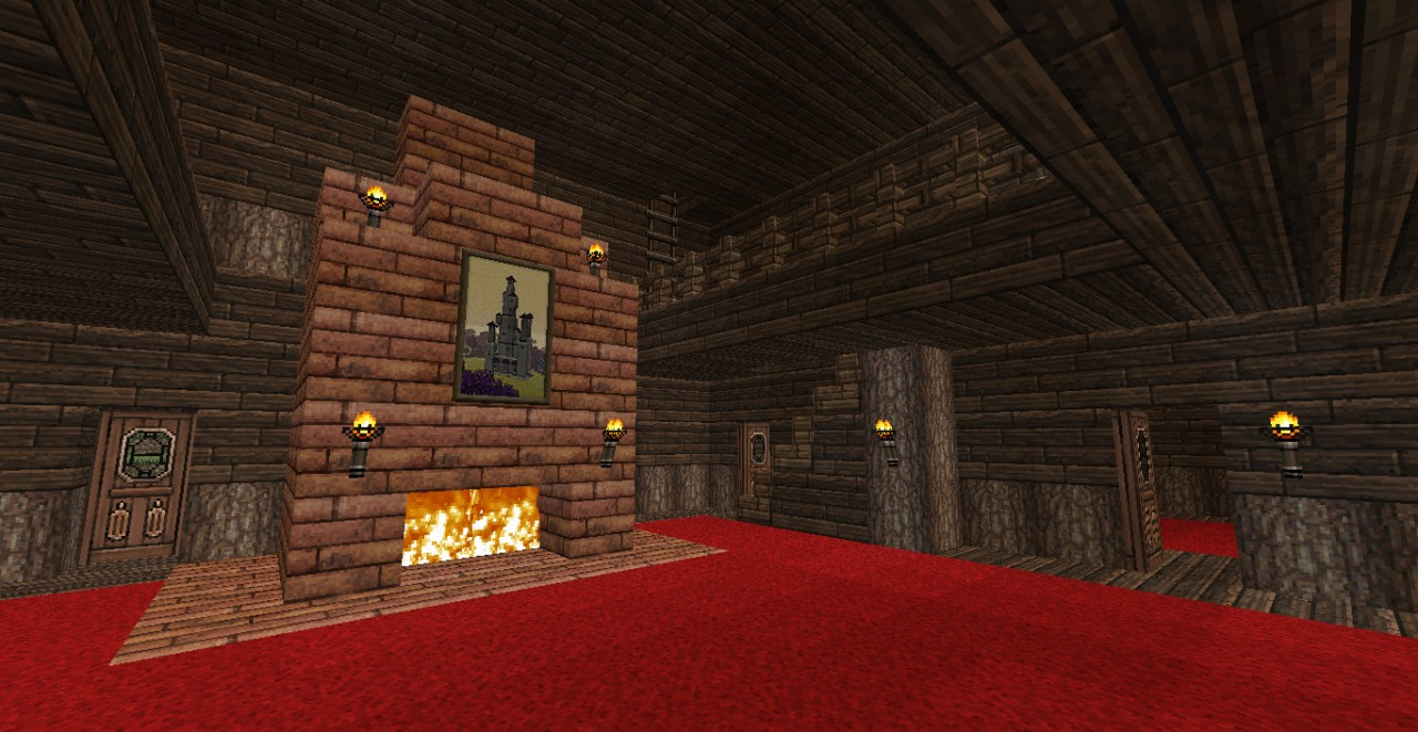 minecraft fireplace viewing gallery