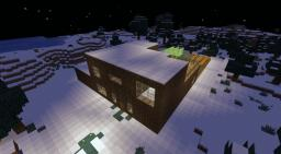 Log Cabin - 100% Legit Cosy But Spacious Log Cabin - Sheep Farm - Open Room Balcony - Open Plan Storage System - Library - Enchanting Room - Brewing Room - Big Farm - Huge Mine - Nether Portal Minecraft Map & Project