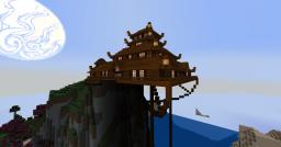Large pagoda with extension partly in air Minecraft Map & Project