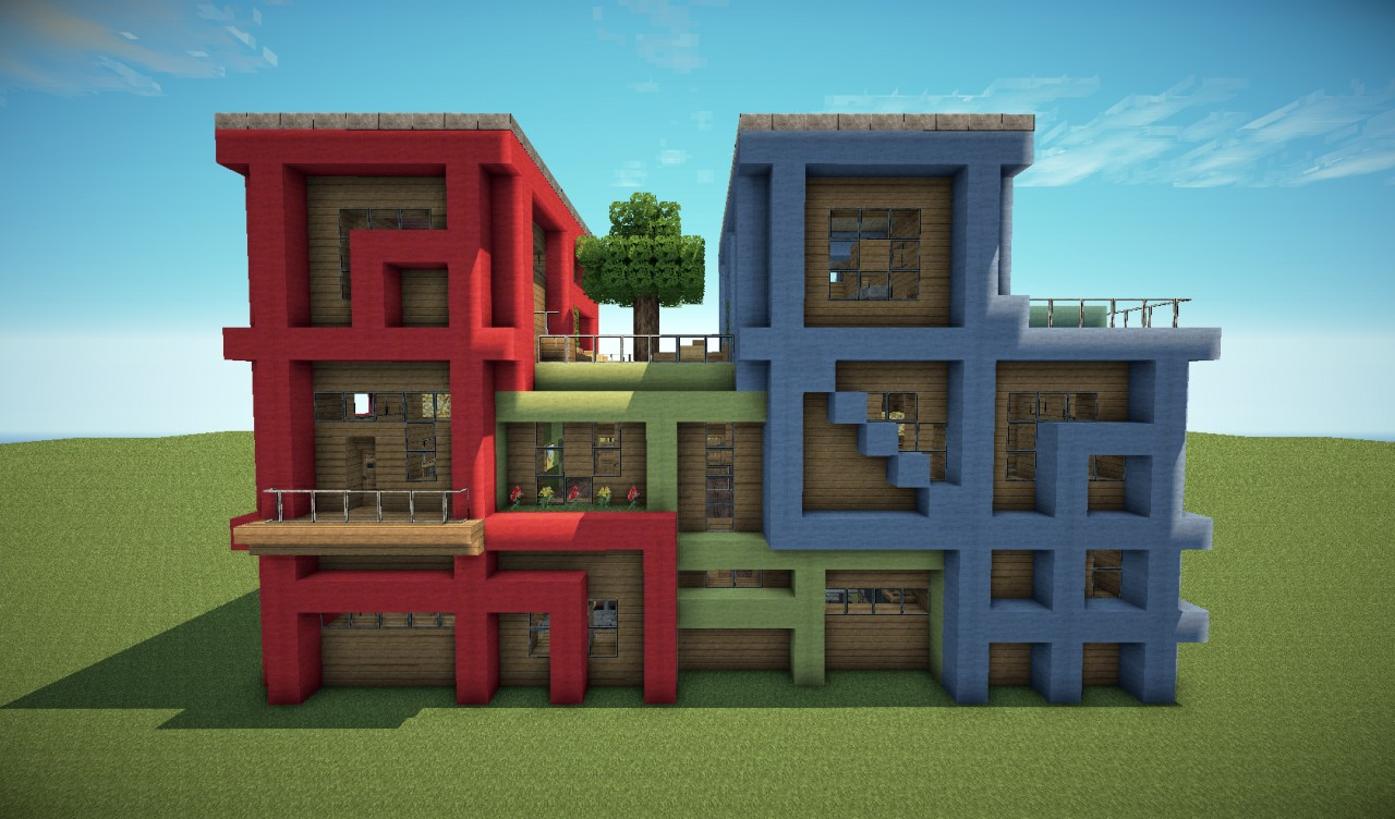 minecraft modern apartment building viewing gallery