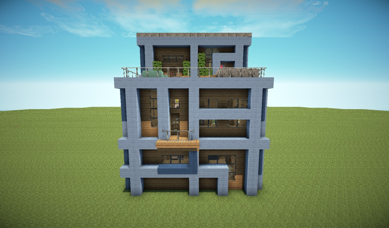 Minecraft Modern Apartment Building Related Keywords  Suggestions - Minecraft modern apartment building