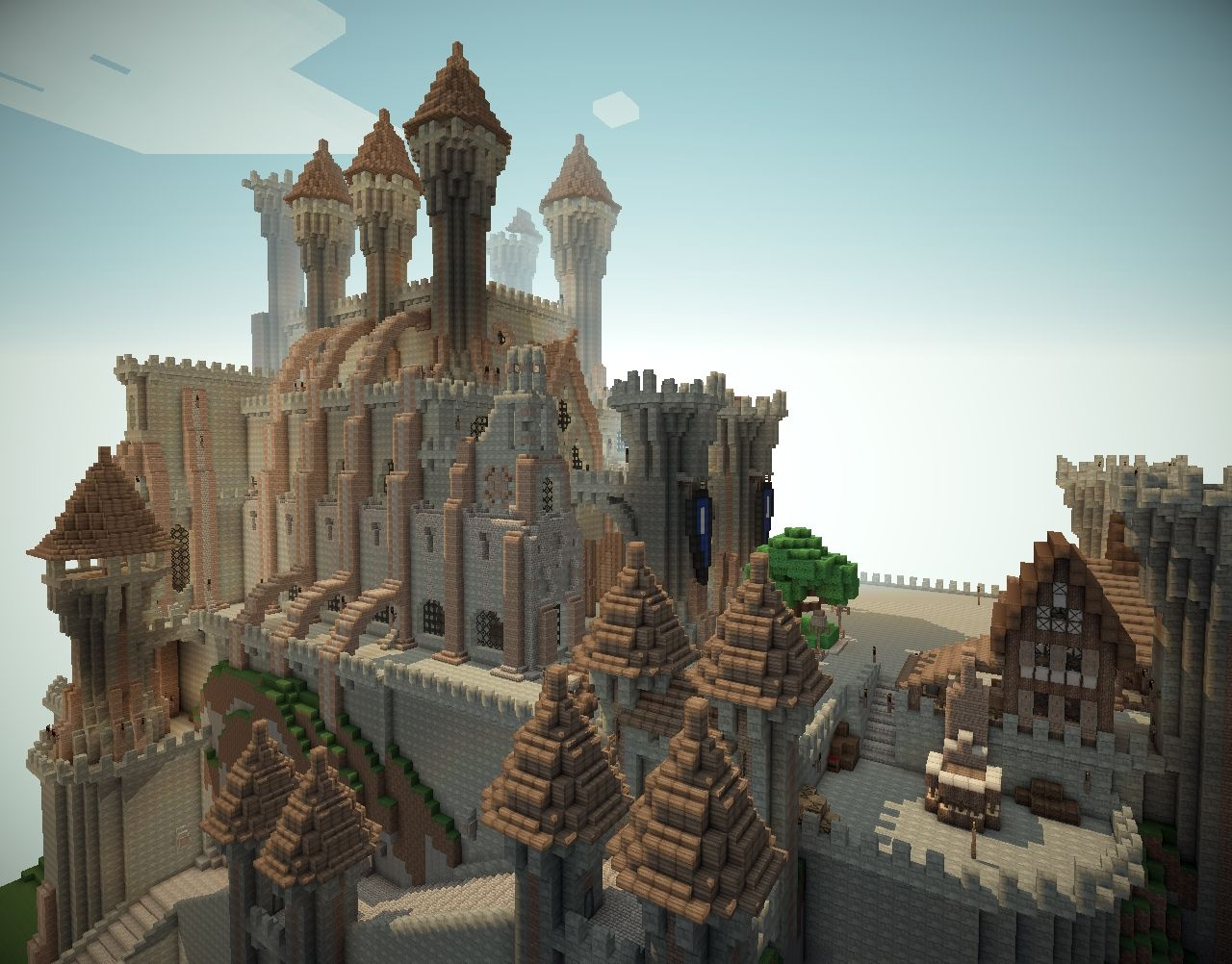 Castle minecraft project for Build a castle house