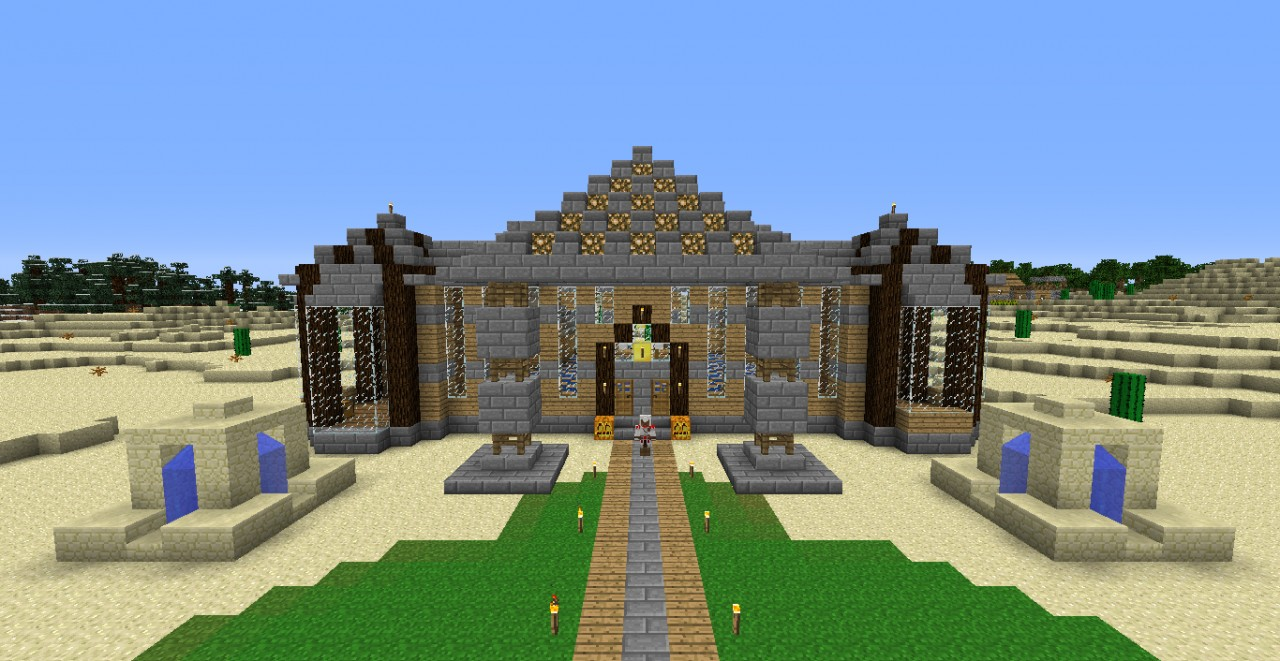 how to build a epic mansion in minecraft