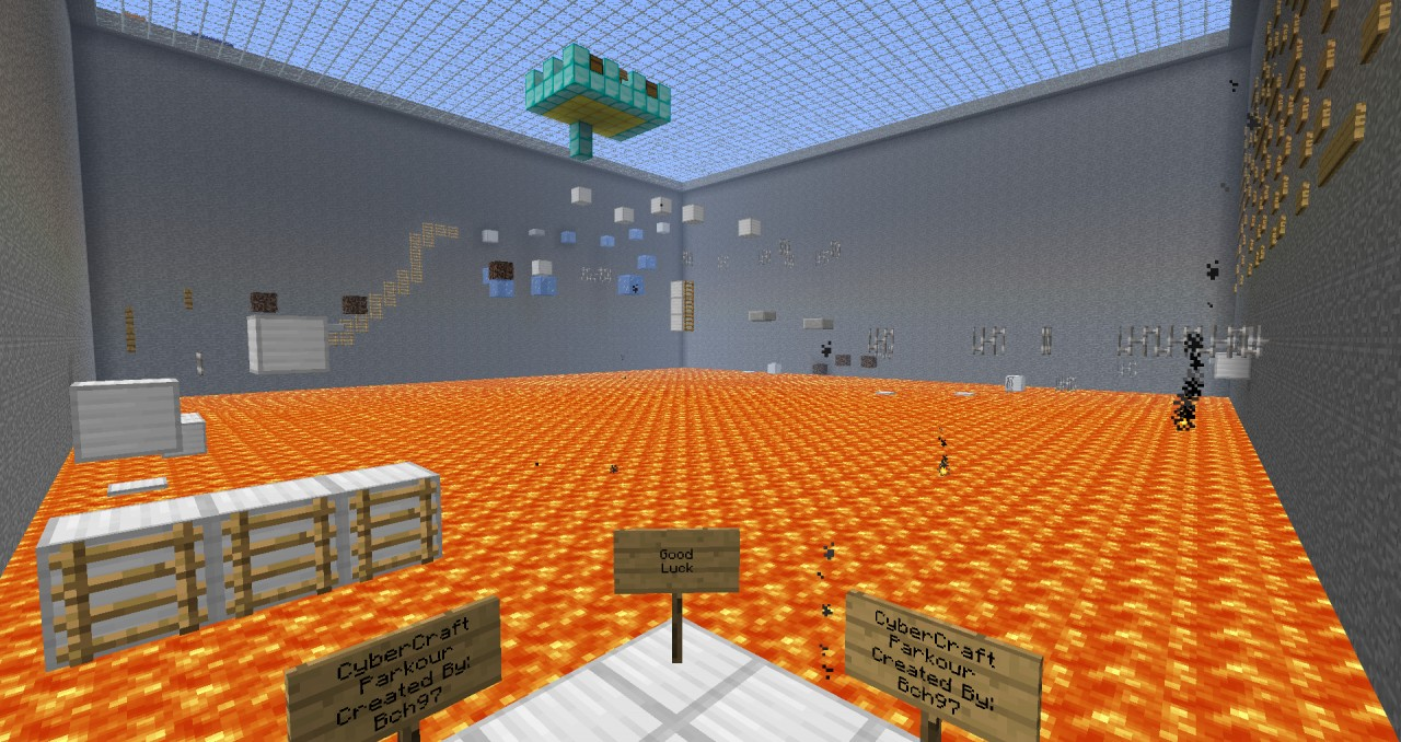 Parkour arena epic minecraft project view from starting point publicscrutiny