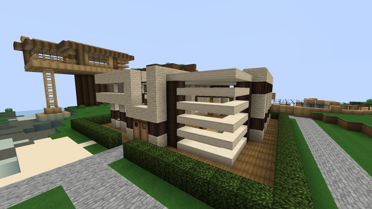 Small modern house minecraft project for Modern house projects