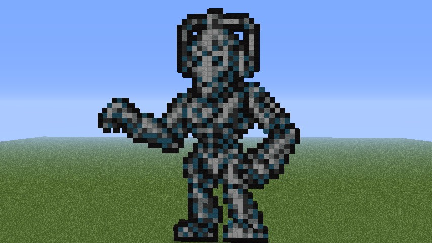 8 Bit Cyberman From Doctor Who Minecraft Project