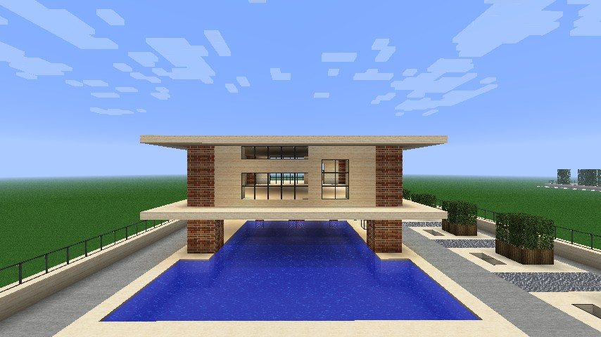 Simple modern house minecraft project for Simple small modern house