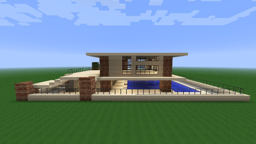 Simple Modern House Minecraft simple modern house minecraft project