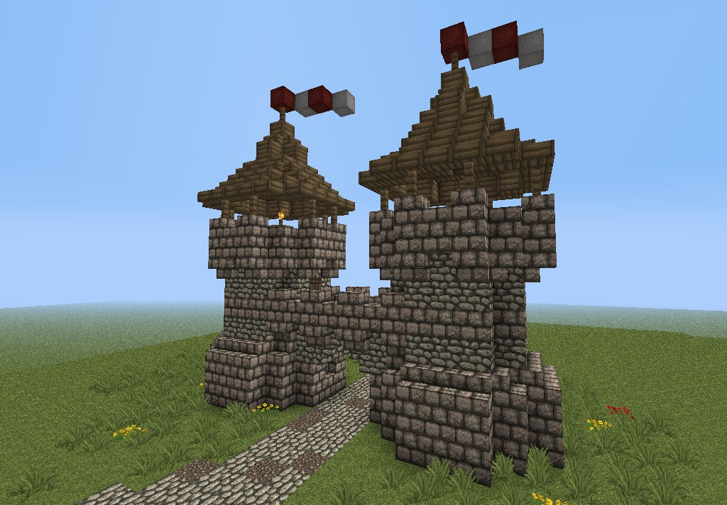 How To Build A Medieval Roof Minecraft