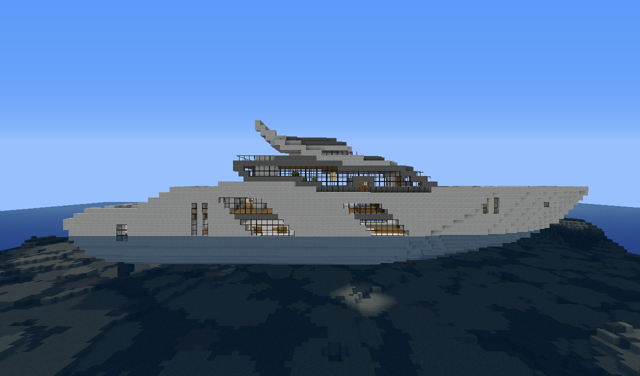 Modern Yacht 2 Minecraft Project