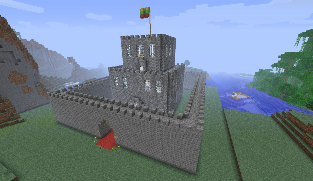 minecraft how to build a simple castle