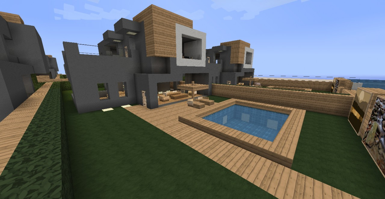 beachhouse villa minecraft project. Black Bedroom Furniture Sets. Home Design Ideas