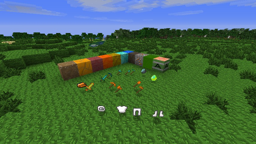 All the items and blocks in the Solar System Mod