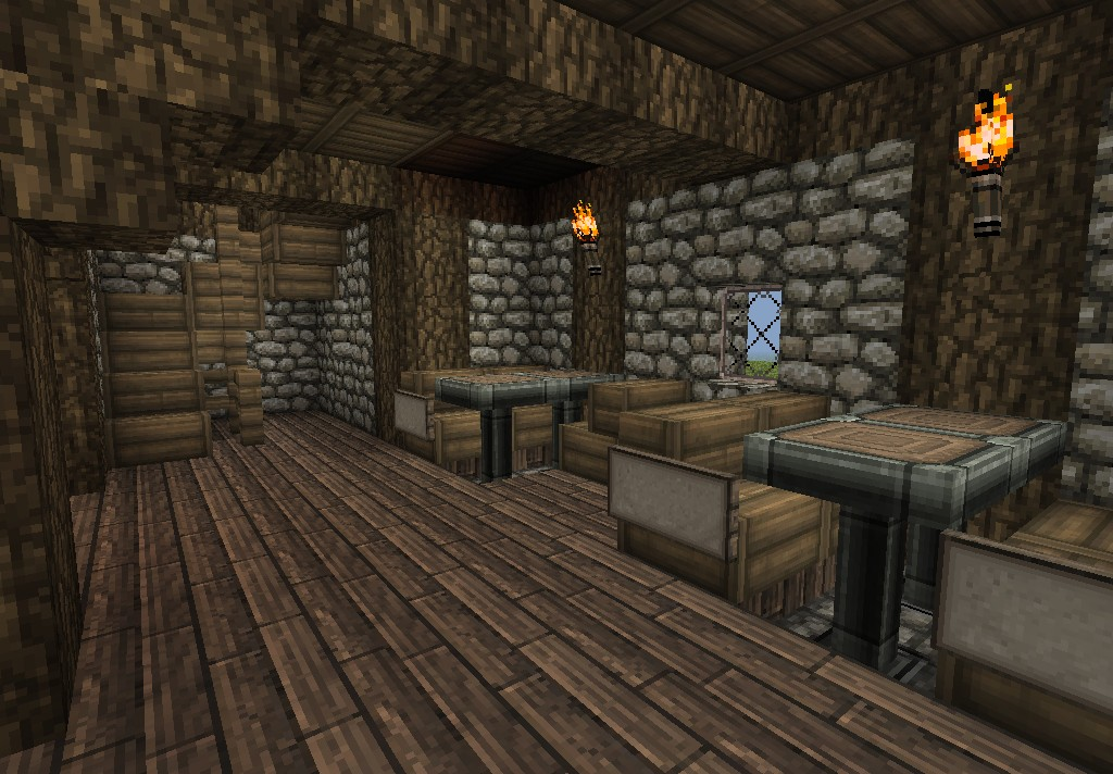 Medieval Tavern Schematic In World Save Minecraft Project