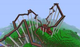 The Red Dragon Coaster [Featured in the Official Minecraft Construction Handbook by Mojang!] Minecraft Project