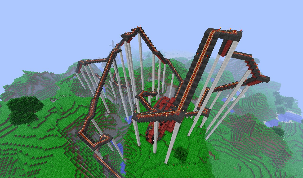 The Red Dragon Coaster [Featured in the Official Minecraft ... - Construction Minecraft