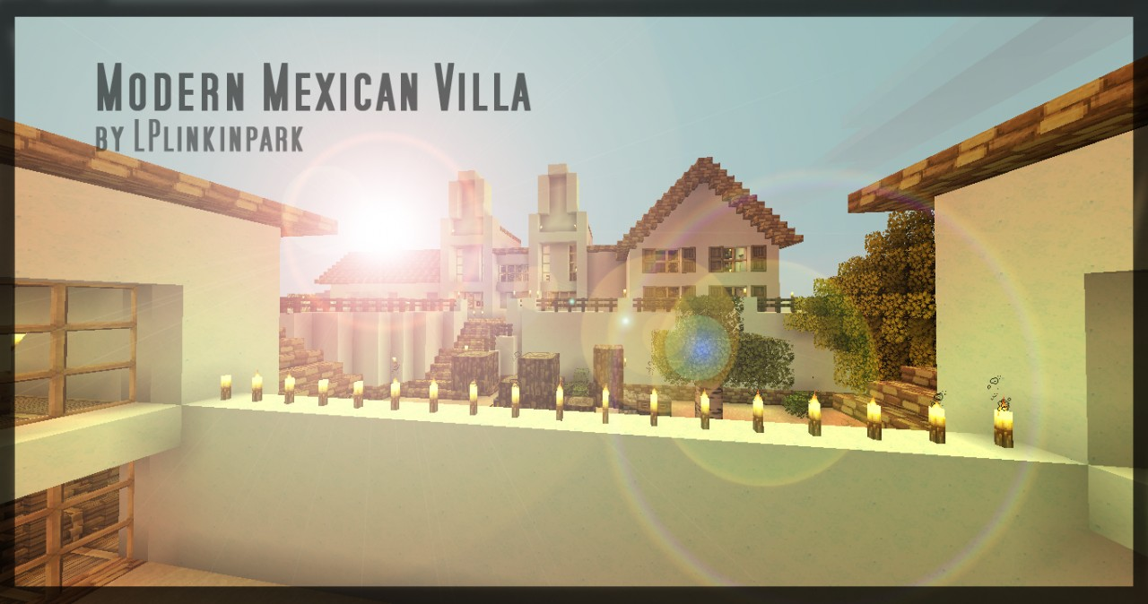 Fr En Modern Mexican Villa New Furniture Minecraft Project