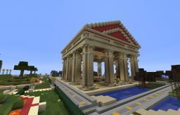 Parthénon temple Minecraft Project