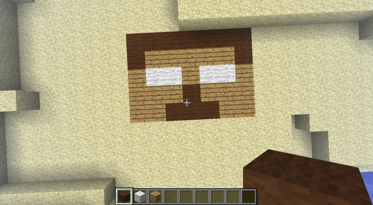 Herobrine's Head Minecraft Project