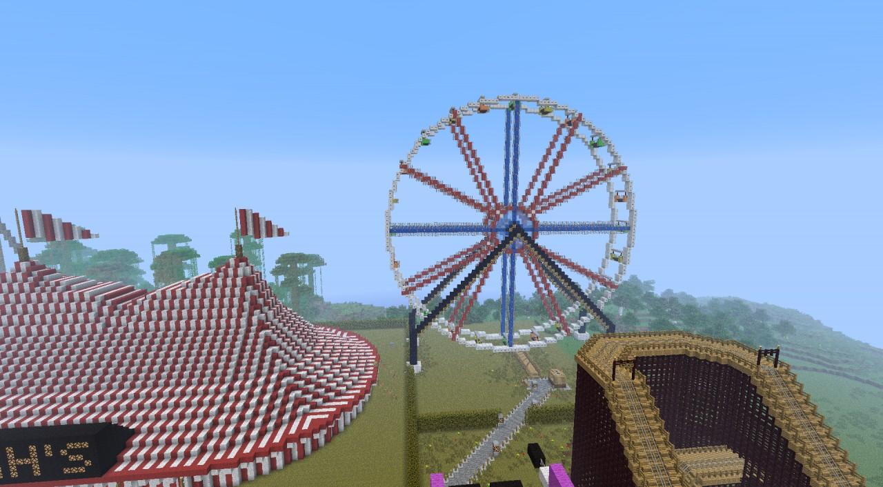 Minecraft Amusement Park Ferris Wheel
