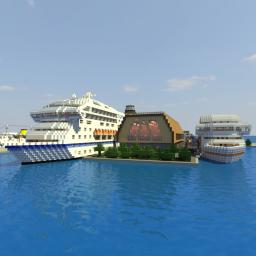 Cruise Ship Terminal Minecraft Map & Project