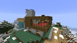 Mountain Modern Home (UPDATED) Minecraft Map & Project