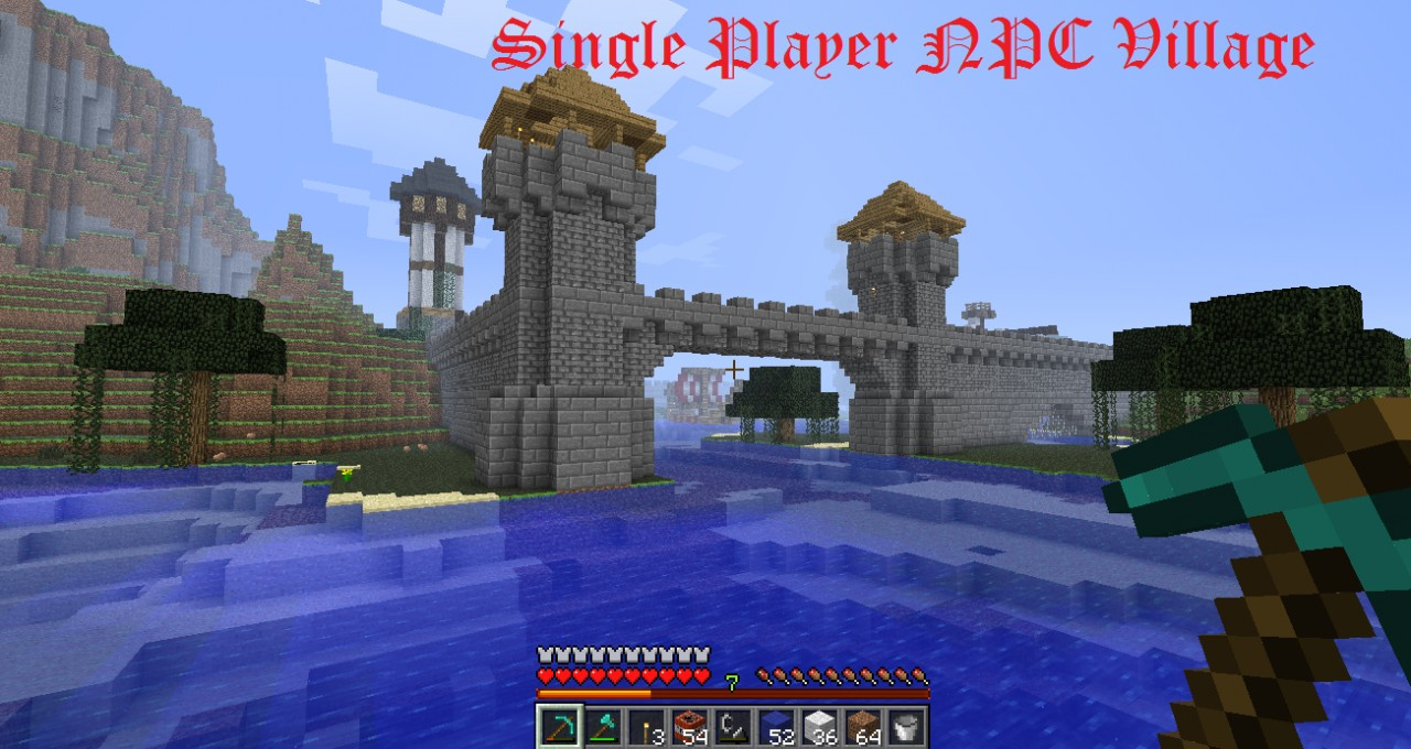 Single Player Npc Trading Port And Player Base Minecraft