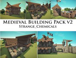 Medieval Building Pack v2 by Strange_Chemcials [5 Buildings] Minecraft