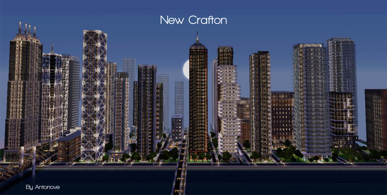 New Crafton A Detailed Modern City Finished Minecraft Project - Nyc map minecraft