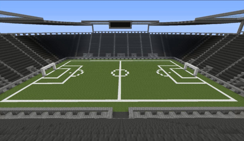 minecraft pe football stadium map download