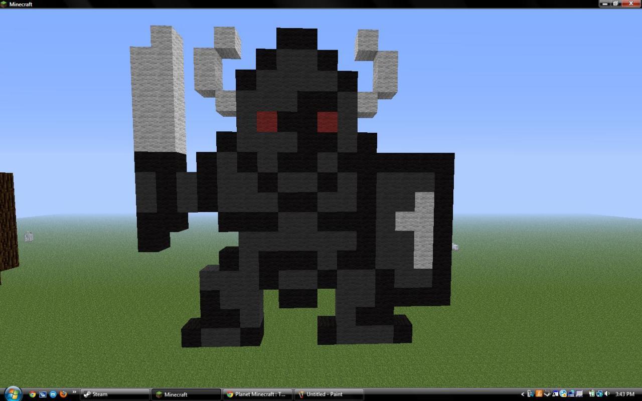 Spider Statue Minecraft Statue/8-Bit Art Colle...