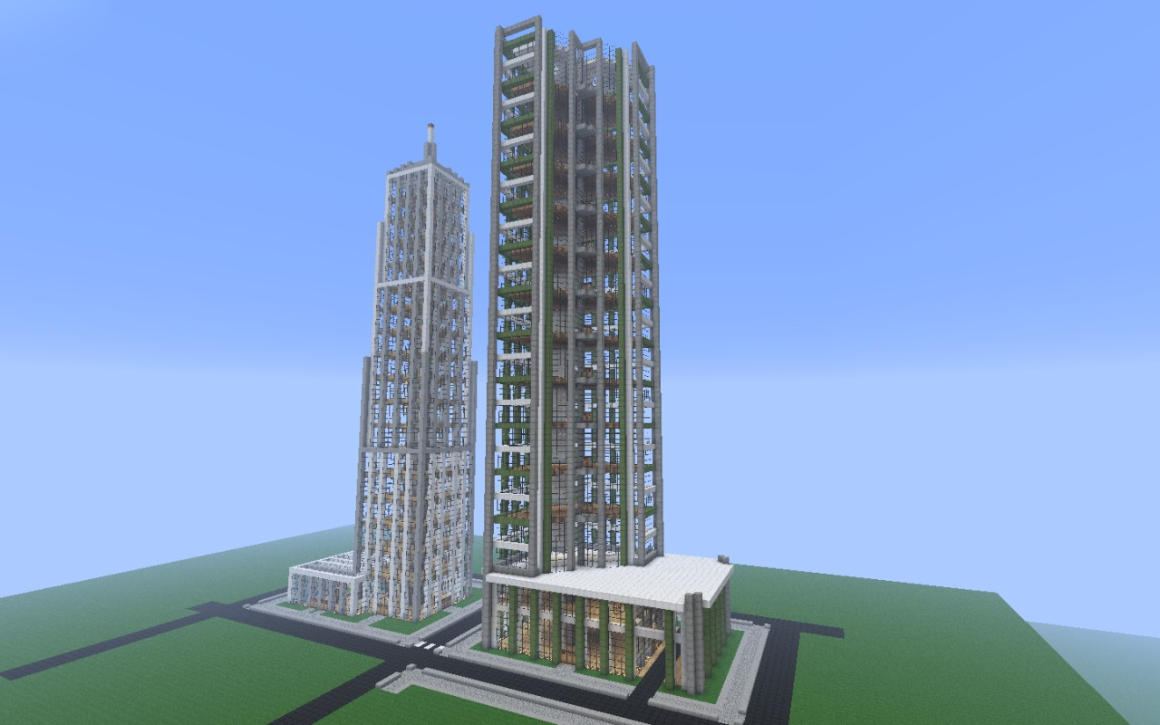 New crafton a detailed modern city finished minecraft for Modern building