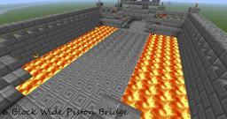 Infinitely Wide Piston Bridge Tutorial Minecraft Blog