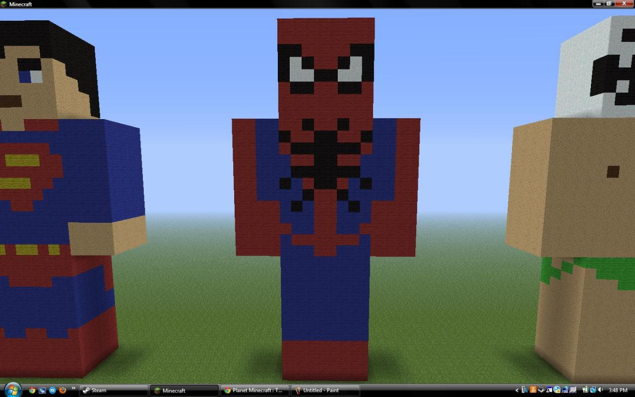 Spider Statue Minecraft Statue/8-Bit Art Colle...