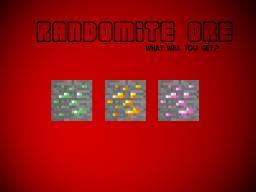 Randomite Ore Mod (Random Ore & Item Drops) (Modloader)(1.2.5)